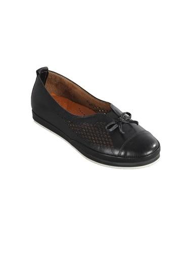 Ayakmod 119 Siyah Kadın Günlük Hakiki Deri Ayakkabı Siyah